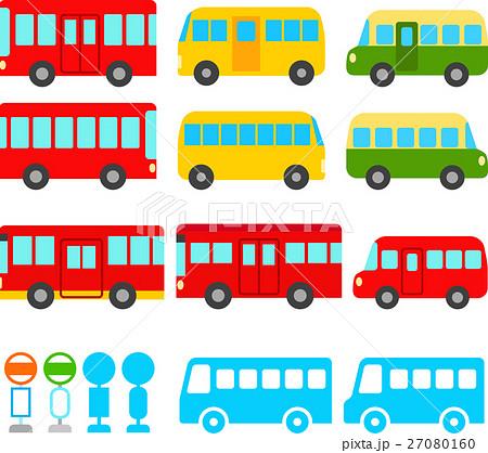 かわいいバスのイラストセットのイラスト素材 27080160 Pixta
