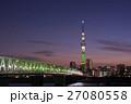東京スカイツリー シャンパンツリー ライトアップの写真 27080558