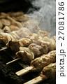 煙 焼き鳥 焼くの写真 27081786
