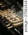 煙 焼き鳥 焼くの写真 27081818