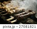 煙 焼き鳥 焼くの写真 27081821