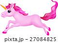 Pink unicorn cartoon running 27084825