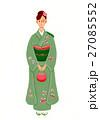 振袖 晴れ着 和服のイラスト 27085552