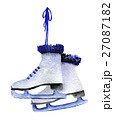 watercolor sketch of skates on white background 27087182