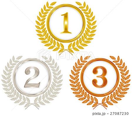 金メダル 銀メダル 銅メダルのイラスト素材