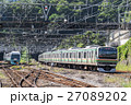 電車 特急 列車の写真 27089202