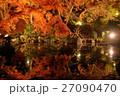 水面に映る長谷寺の紅葉 27090470