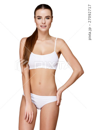 edac3ed40f6 Sexy young girl in white lingerieの写真素材  27092717  - PIXTA