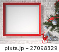 Mock up poster with red reindeer 27098329