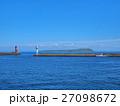 天売港より望む焼尻島 27098672