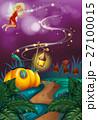 Fairy flying in garden at night 27100015