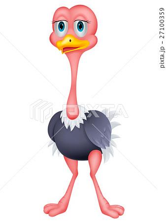 Ostrich cartoon 27100359