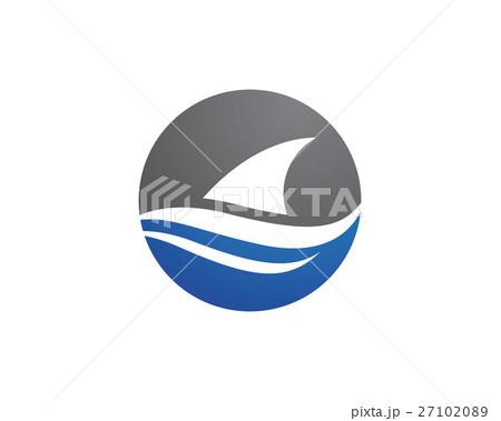 shark logo templateのイラスト素材 27102089 pixta