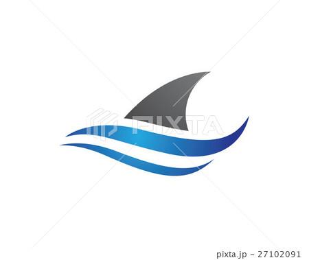 shark logo templateのイラスト素材 27102091 pixta