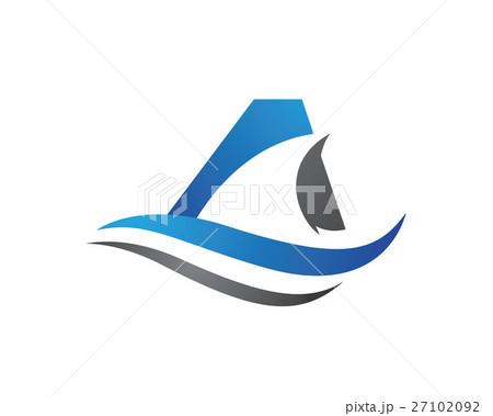 shark logo templateのイラスト素材 27102092 pixta
