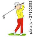 ゴルフのスイング-3 27102553