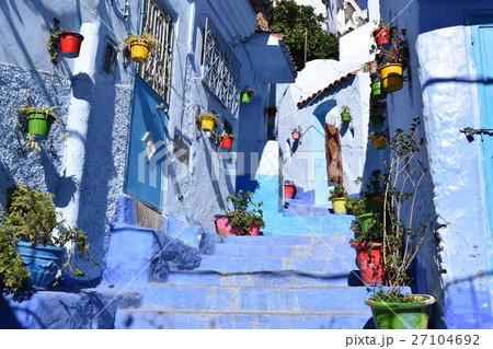 モロッコの青いメディナ、シャフシャウエン 27104692