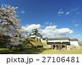 白河小峰城 桜 青空の写真 27106481