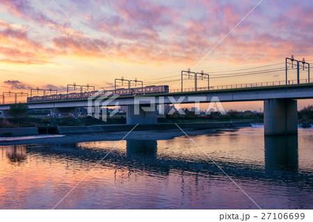 多摩川の高架橋 27106699