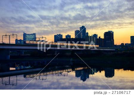 多摩川の高架橋 27106717