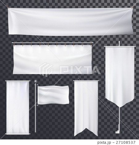 blank poster or banner hanging frame templateのイラスト素材