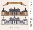 French Chateau Chambord castle building. 27108539