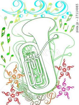 新緑のユーフォニアムのイラスト素材 27114065 Pixta