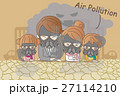 cartoon family with air pollution 27114210