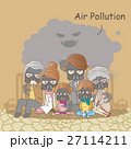 cartoon family with air pollution 27114211