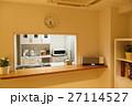 キッチン パソコン 夜 住まい 住宅 家 住居 深夜 部屋 ダイニング 27114527