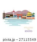 京都の町並みのイラスト 27115549