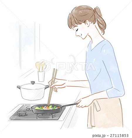 料理をする女性 27115853