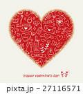 ハート バレンタイン バレンタインデーのイラスト 27116571