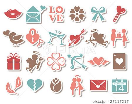 バレンタイン アイコンセット 27117217