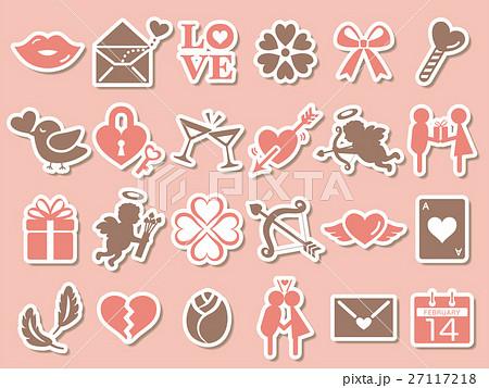 バレンタイン アイコンセット 27117218