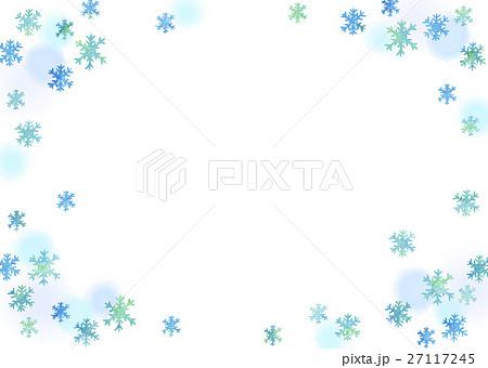 水彩 雪の結晶と水玉 (透過) 27117245