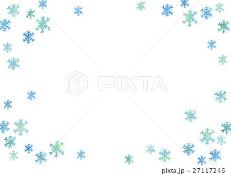 水彩 雪の結晶 (透過) 27117246