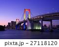 つり橋 夕景 お台場の写真 27118120