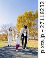 家族 公園 秋の写真 27118232