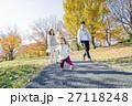 家族 公園 秋の写真 27118248