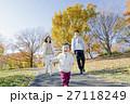 家族 公園 秋の写真 27118249