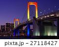 つり橋 夕景 ランドマークの写真 27118427