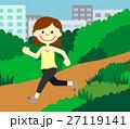 公園で走る女性 27119141