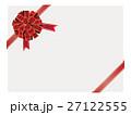 メッセージカード リボン フレームのイラスト 27122555