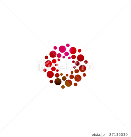 digital colorful isolated circle logo templateのイラスト素材