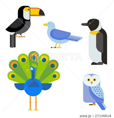 Birds vector set illustration isolated 27136618
