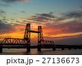 筑後川昇開橋の日没後 27136673