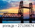 筑後川昇開橋の日没後 27136674