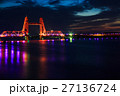 筑後川昇開橋の夜景 ライトアップ 27136724