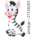 Cute baby zebra cartoon 27138265